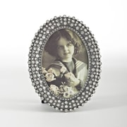 Saro Silver Jeweled Picture Frame