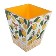 TSC Giftables Lemon Garden Manufactured Wood Trash Can