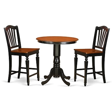 East West Jackson 3 Piece Counter Height Pub Table Set