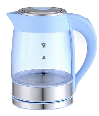 GForce 1.90-qt. Glass Electric Kettle; Blue WYF078278918188