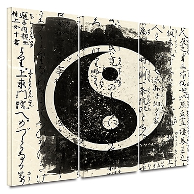 ArtWall 'Tao' by Elena Ray 3 Piece Graphic Art on Wrapped Canvas Set; 32'' H x 72'' W x 2'' D