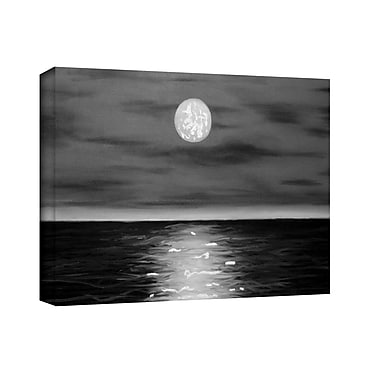 ArtWall 'Moon Rising' by Jim Morana Painting Print on Wrapped Canvas; 24'' H x 32'' W