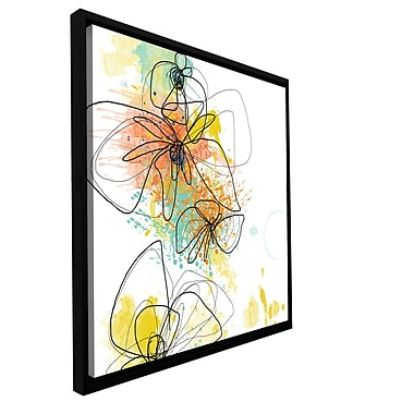 ArtWall 'Orange Botanica' by Jan Weiss Framed Graphic Art on Wrapped Canvas; 24'' H x 24'' W