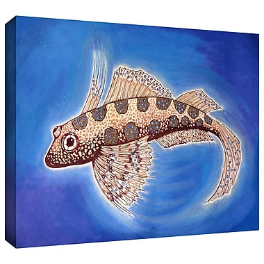 ArtWall 'Dragonet Fish' by Nat Morley Painting Print on Wrapped Canvas; 36'' H x 48'' W x 2'' D