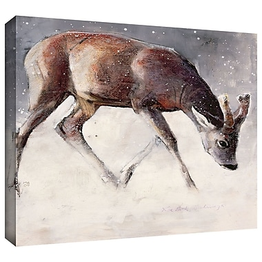 ArtWall 'Roe Buck' by Mark Adlington Painting Print on Wrapped Canvas; 24'' H x 32'' W x 2'' D