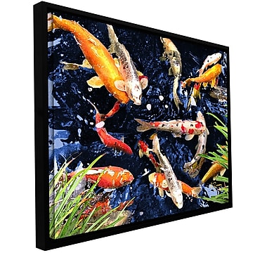 ArtWall 'Koi' by George Zucconi Framed Painting Print on Wrapped Canvas; 36'' H x 48'' W