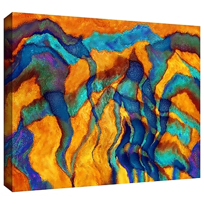 ArtWall 'Cross Currents' by Dean Uhlinger Graphic Art on Wrapped Canvas; 24'' H x 36'' W