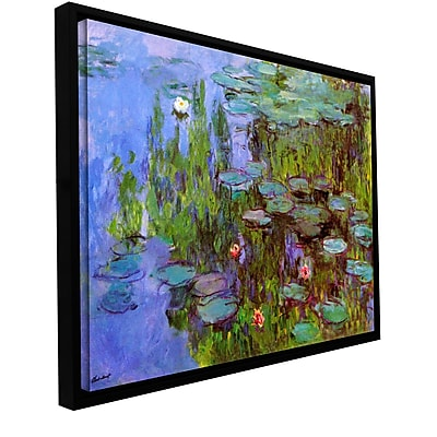 ArtWall ''Sea Roses'' by Claude Monet Framed Painting Print on Wrapped Canvas; 24'' H x 32'' W