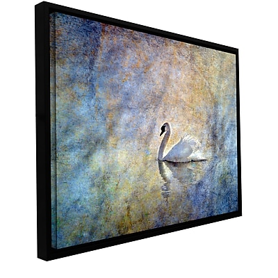 ArtWall The Swan' by Antonio Raggio Framed Painting Print on Wrapped Canvas; 16'' H x 24'' W