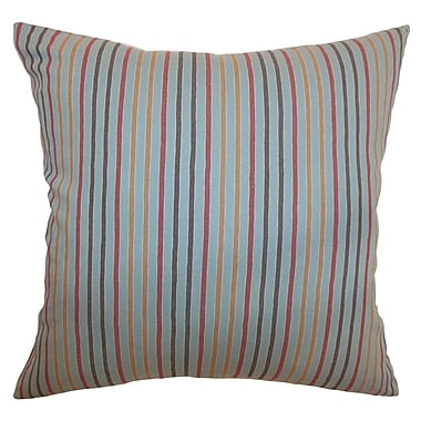 The Pillow Collection Lesly Stripes Bedding Sham; Euro