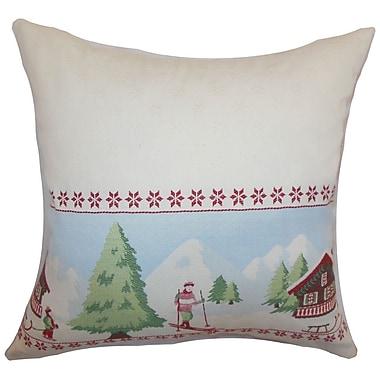 The Pillow Collection Florina Holiday Bedding Sham; Queen