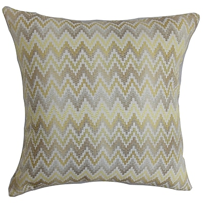 The Pillow Collection Yanira Zigzag Throw Pillow Cover; 20'' x 20''