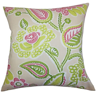 The Pillow Collection Mare Floral Bedding Sham; Euro