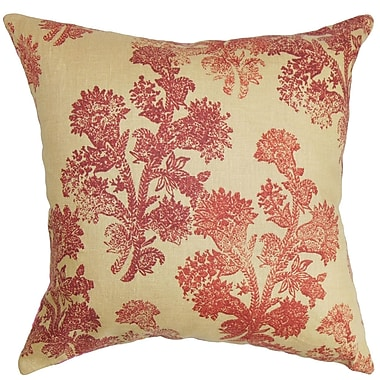 The Pillow Collection Efterpi Floral Bedding Sham; Queen