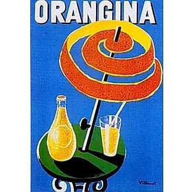 Printfinders 'Orangina' by Bernard Villemot Vintage Advertisement on Wrapped Canvas; 36'' H x 24'' W