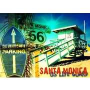 TAF DECOR Santa Monica Cool 2 Graphic Art on Canvas