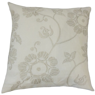 The Pillow Collection Kaywar Floral Cotton Throw Pillow; 18'' x 18''