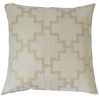 The Pillow Collection Hollace Geometric Cotton Throw Pillow; 18'' x 18''