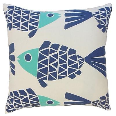 The Pillow Collection Edana Graphic Outdoor Throw Pillow; 18'' x 18''