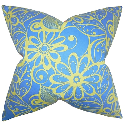 The Pillow Collection Mehira Floral Bedding Sham; Euro