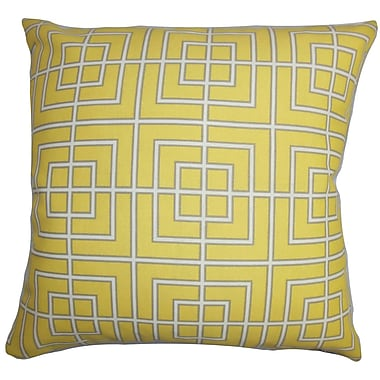 The Pillow Collection Sanaa Geometric Outdoor Sham; Queen