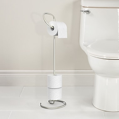 Better Living Products Loo Free Standing Toilet Caddy; Polished Nickel