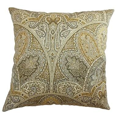 The Pillow Collection La Ceiba Paisley Sandstone; Euro