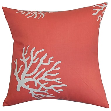 The Pillow Collection Jessamine Coral Bedding Sham; King