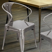 AdecoTrading Side Chair (Set of 2); Gunmetal