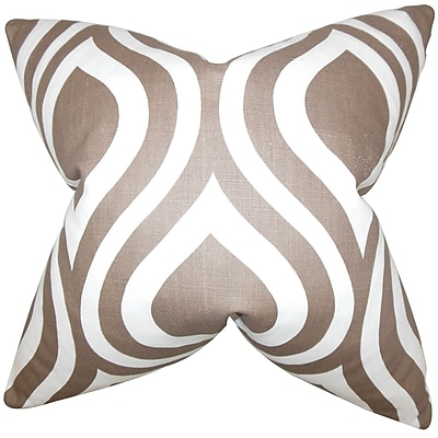 The Pillow Collection Larch Geometric Bedding Sham; Brown
