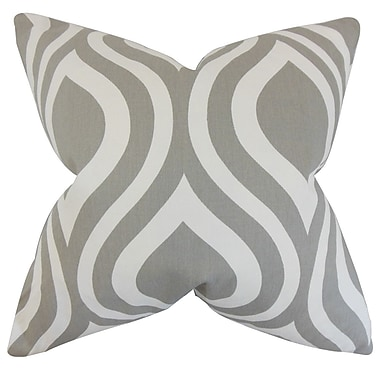 The Pillow Collection Larch Geometric Bedding Sham; Gray
