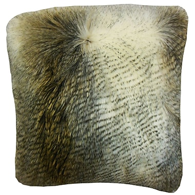 The Pillow Collection Valeska Faux Fur Bedding Sham; Euro