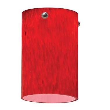 Lithonia Lighting 3.38'' Glass Drum Pendant Shade; Apple Red