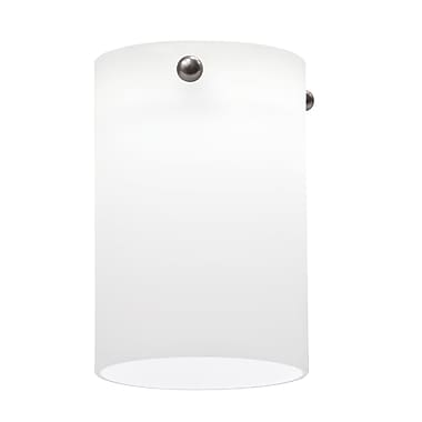 Lithonia Lighting 3.38'' Glass Drum Pendant Shade; Opal White