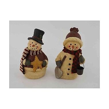 Craft Outlet 2 Piece Papier Mache Snowman Set