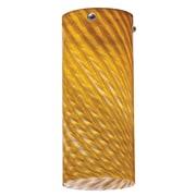 Lithonia Lighting 3.38'' Glass Drum Pendant Shade; Amber Twist