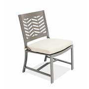 AMS Outdoor Chevron Dining Side Chair with Cushion; Cast Shale