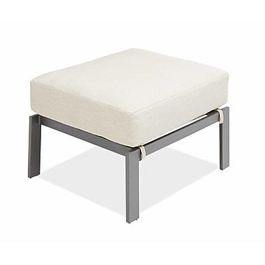 AMS Outdoor Chevron Ottoman with Cushion; Cast Ash