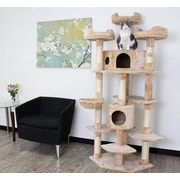 Kitty Mansions 72'' Denver Cat Tree; Beige