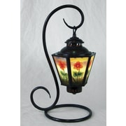 AA Importing Reverse Painted Floral Coach 17'' Arched Table Lamp