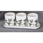 AA Importing 3 Piece Ceramic Pot Planter Set
