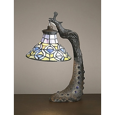 AA Importing Tiffany Peacock 16'' Table Lamp