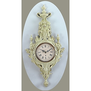 AA Importing Torch Design Wall Clock; Ivory