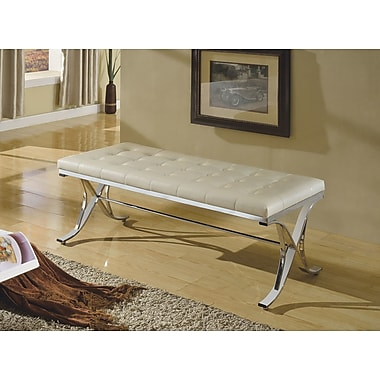 A&J Homes Studio Elly Upholstered Bedroom Bench; Beige