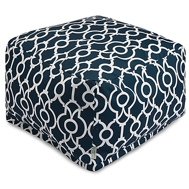 Majestic Home Goods Athens Ottoman; Navy