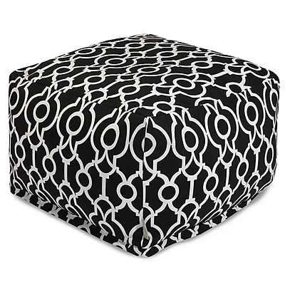 Majestic Home Goods Athens Ottoman; Black