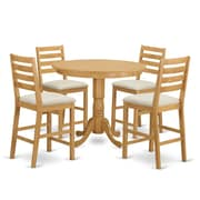 Wooden Importers Trenton 5 Piece Dining Counter Height Pub Table Set