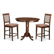 Wooden Importers Trenton 3 Piece Counter Height Pub Table Set; Buttermilk and Cherry