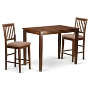Wooden Importers Yarmouth 3 Piece Counter Height Pub Table Set; Buttermilk and Cherry