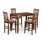 Wooden Importers Yarmouth 5 Piece Counter Height Pub Table Set; Buttermilk and Cherry